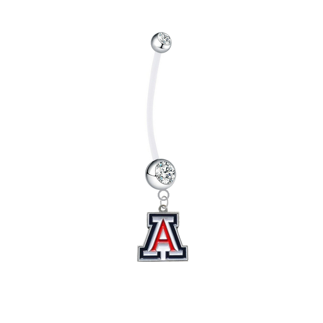 Arizona Wildcats Clear Pregnancy Maternity Belly Button Navel Ring - Pick Your Color