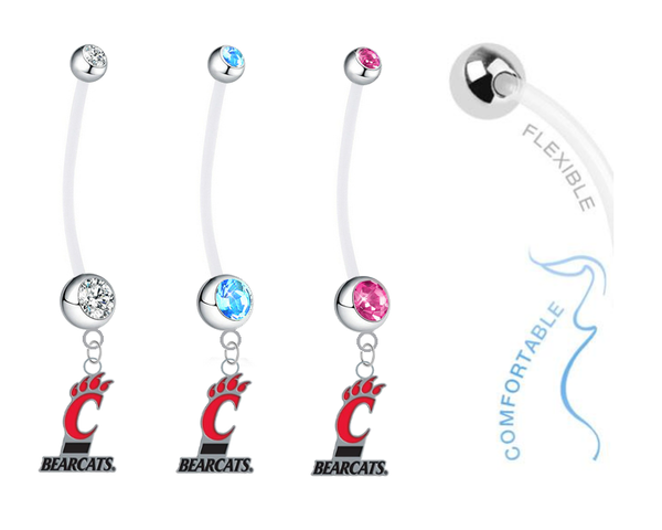 Cincinnati Bearcats Boy/Girl Pregnancy Maternity Belly Button Navel Ring