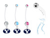 BYU Cougars Boy/Girl Pregnancy Maternity Belly Button Navel Ring