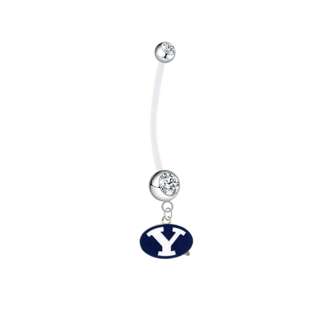 BYU Cougars Boy/Girl Clear Pregnancy Maternity Belly Button Navel Ring