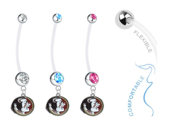 Florida State Seminoles Boy/Girl Pregnancy Maternity Belly Button Navel Ring