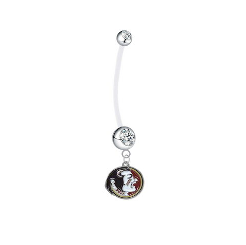 Florida State Seminoles Boy/Girl Clear Pregnancy Maternity Belly Button Navel Ring