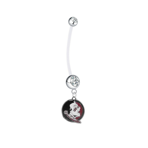 Florida State Seminoles New Logo Boy/Girl Clear Pregnancy Maternity Belly Button Navel Ring
