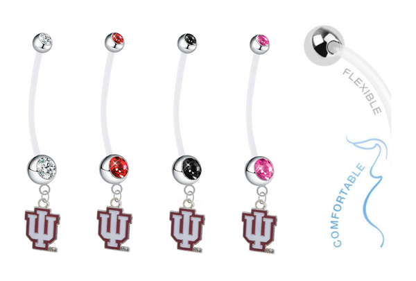 Indiana Hoosiers Pregnancy Maternity Belly Button Navel Ring - Pick Your Color