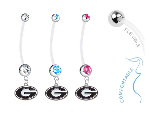 Georgia Bulldogs Boy/Girl Pregnancy Maternity Belly Button Navel Ring