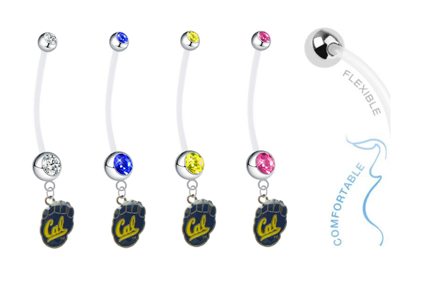 California Cal Golden Bears Pregnancy Maternity Belly Button Navel Ring - Pick Your Color