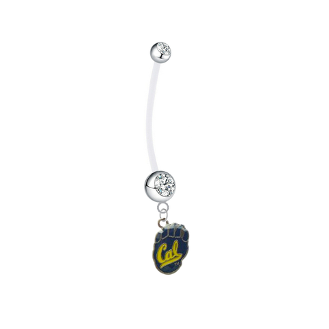 California Cal Golden Bears Clear Pregnancy Maternity Belly Button Navel Ring - Pick Your Color