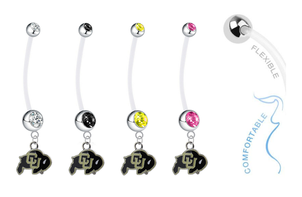 Colorado Buffaloes Pregnancy Maternity Belly Button Navel Ring - Pick Your Color