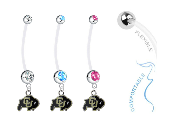 Colorado Buffaloes Boy/Girl Pregnancy Maternity Belly Button Navel Ring