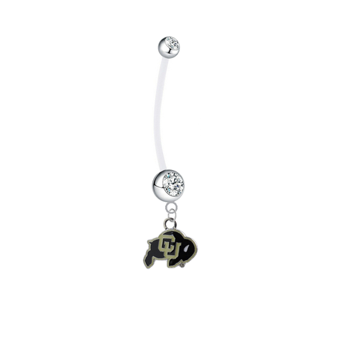 Colorado Buffaloes Pregnancy Clear Maternity Belly Button Navel Ring - Pick Your Color