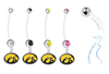 Iowa Hawkeyes Pregnancy Maternity Belly Button Navel Ring - Pick Your Color