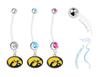 Iowa Hawkeyes Boy/Girl Pregnancy Maternity Belly Button Navel Ring