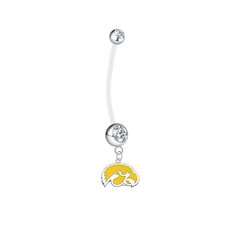 Iowa Hawkeyes Style 2 Boy/Girl Pregnancy Clear Maternity Belly Button Navel Ring