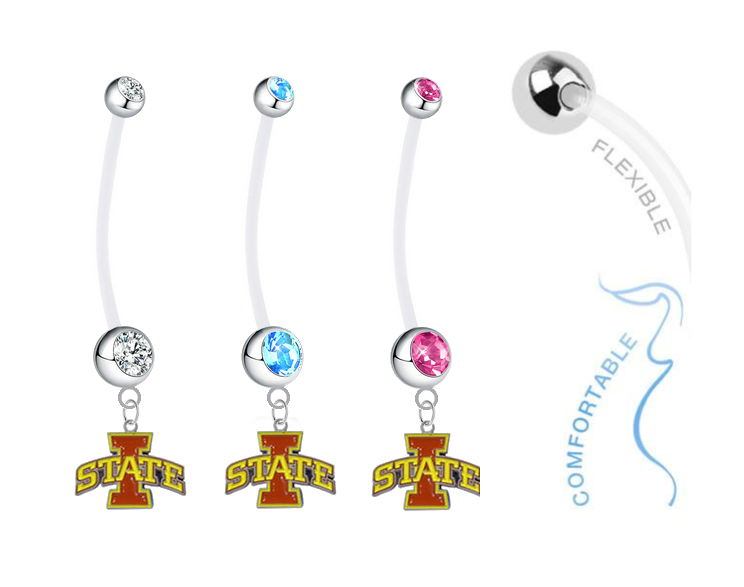 Iowa State Cyclones Boy/Girl Pregnancy Maternity Belly Button Navel Ring