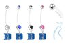 Duke Blue Devils Pregnancy Maternity Belly Button Navel Ring - Pick Your Color