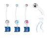 Duke Blue Devils Boy/Girl Pregnancy Maternity Belly Button Navel Ring