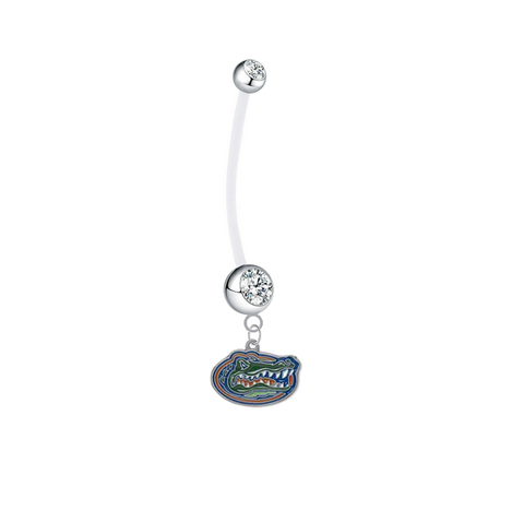 Florida Gators Boy/Girl Clear Pregnancy Maternity Belly Button Navel Ring