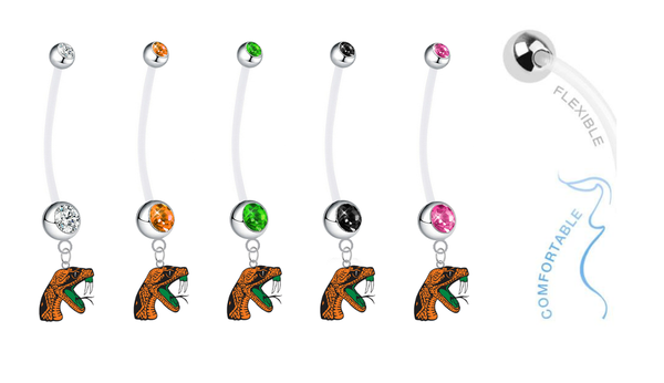 Florida A&M Rattlers Pregnancy Maternity Belly Button Navel Ring - Pick Your Color