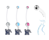 Memphis Tigers Boy/Girl Pregnancy Maternity Belly Button Navel Ring