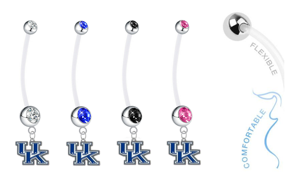 Kentucky Wildcats Pregnancy Maternity Belly Button Navel Ring - Pick Your Color