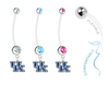 Kentucky Wildcats Boy/Girl Pregnancy Maternity Belly Button Navel Ring