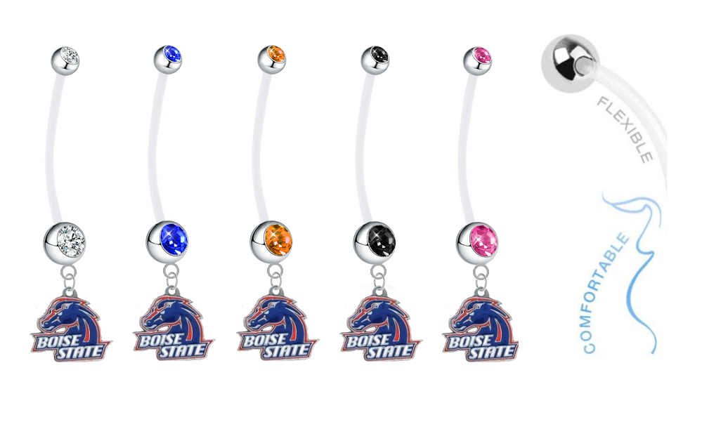 Boise State Broncos Pregnancy Maternity Belly Button Navel Ring - Pick Your Color
