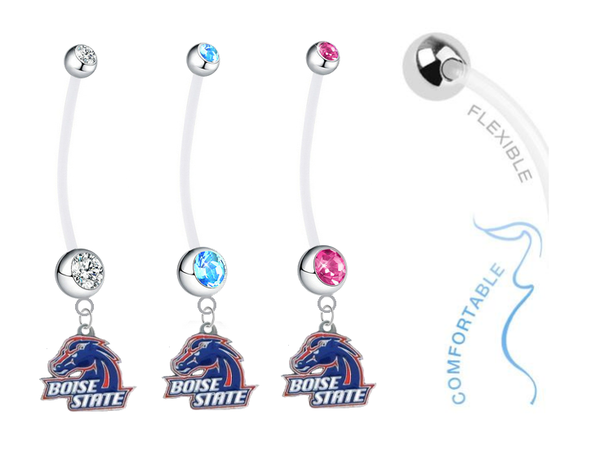 Boise State Broncos Boy/Girl Pregnancy Maternity Belly Button Navel Ring