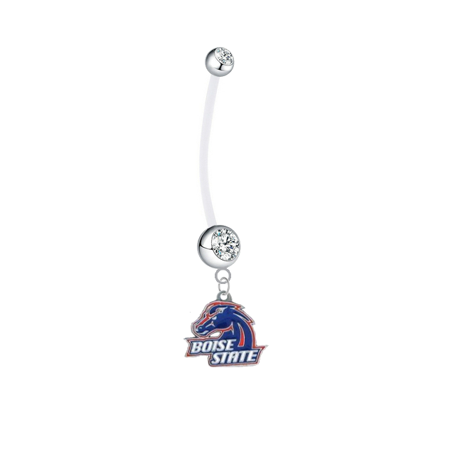 Boise State Broncos Boy/Girl Clear Pregnancy Maternity Belly Button Navel Ring