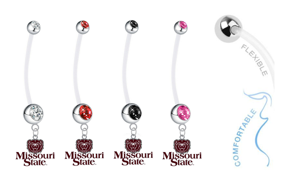 Missouri State Bears Pregnancy Maternity Belly Button Navel Ring - Pick Your Color