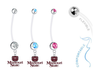 Missouri State Bears Boy/Girl Pregnancy Maternity Belly Button Navel Ring