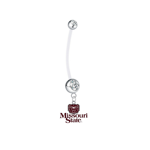 Missouri State Bears Boy/Girl Clear Pregnancy Maternity Belly Button Navel Ring