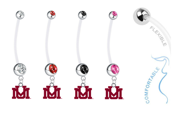 Montana Grizzlies Pregnancy Maternity Belly Button Navel Ring - Pick Your Color