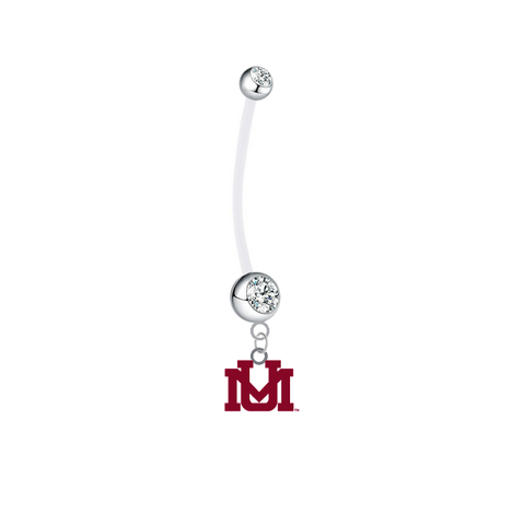 Montana Grizzlies Pregnancy Clear Maternity Belly Button Navel Ring - Pick Your Color