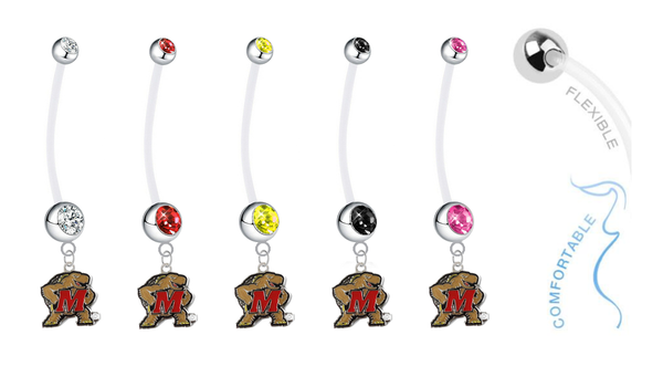 Maryland Terrapins Pregnancy Maternity Belly Button Navel Ring - Pick Your Color