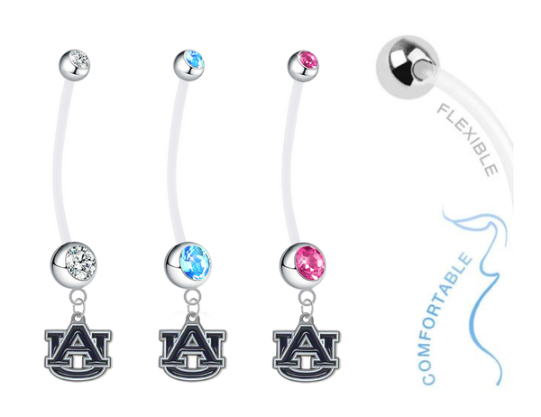 Auburn Tigers Boy/Girl Pregnancy Maternity Belly Button Navel Ring