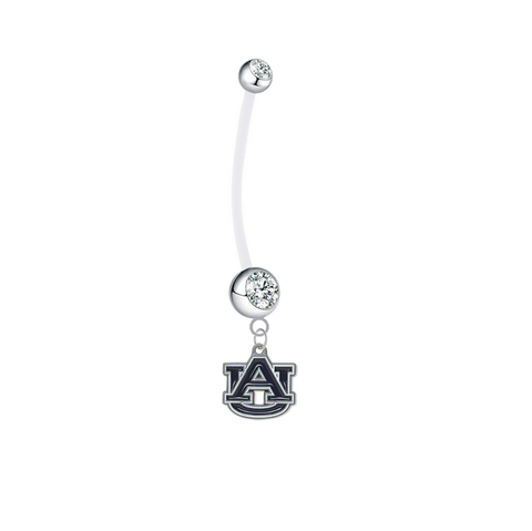 Auburn Tigers Pregnancy Clear Maternity Belly Button Navel Ring - Pick Your Color