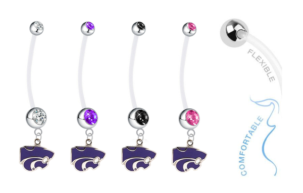 Kansas State Wildcats Pregnancy Maternity Belly Button Navel Ring - Pick Your Color