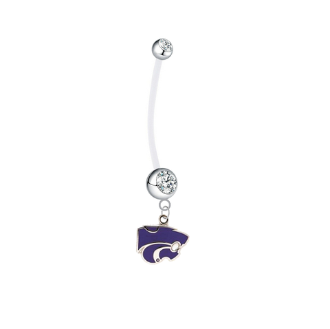 Kansas State Wildcats Pregnancy Clear Maternity Belly Button Navel Ring - Pick Your Color