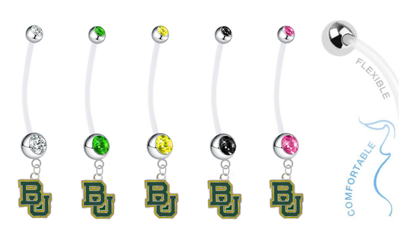 Baylor Bears Pregnancy Maternity Belly Button Navel Ring - Pick Your Color