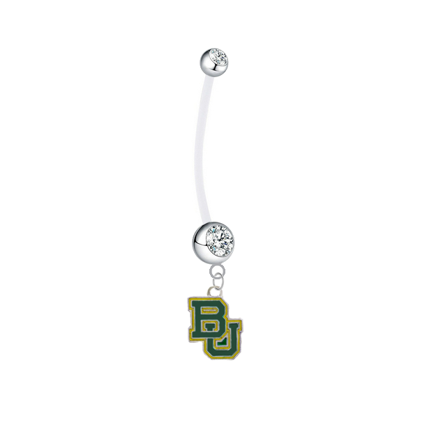 Baylor Bears Boy/Girl Clear Pregnancy Maternity Belly Button Navel Ring