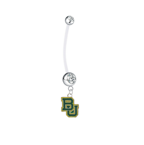 Baylor Bears Pregnancy Maternity Clear Belly Button Navel Ring - Pick Your Color