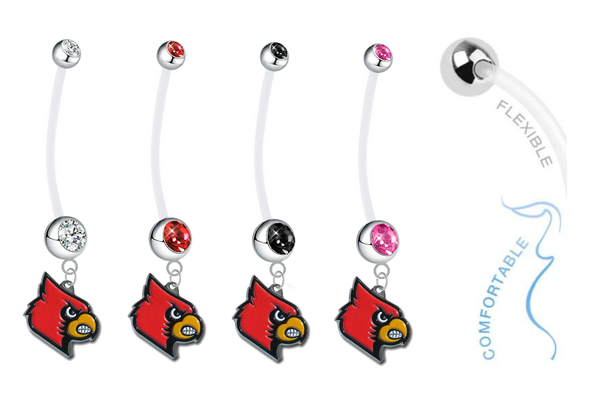 Louisville Cardinals Pregnancy Maternity Belly Button Navel Ring - Pick Your Color