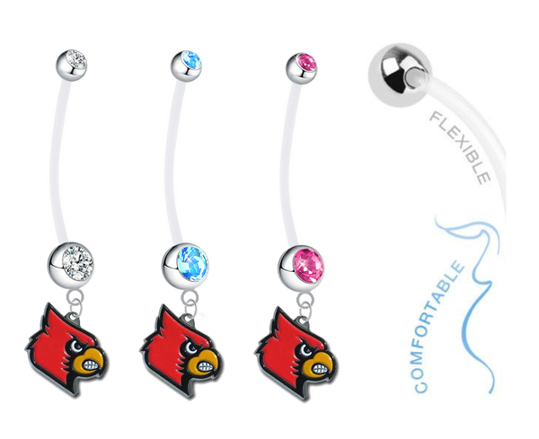 Louisville Cardinals Boy/Girl Pregnancy Maternity Belly Button Navel Ring