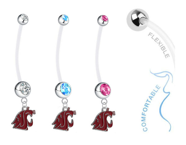 Washington State Cougars Boy/Girl Pregnancy Maternity Belly Button Navel Ring