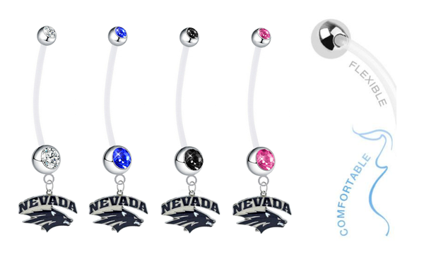 Nevada Wolf Pack Pregnancy Maternity Belly Button Navel Ring - Pick Your Color