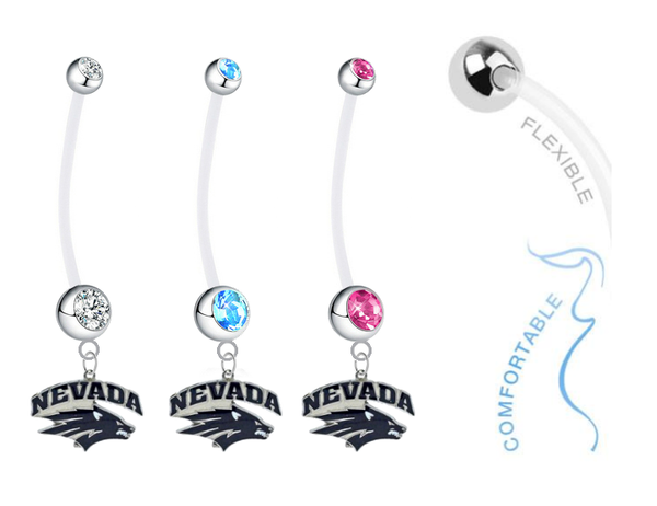 Nevada Wolf Pack Boy/Girl Pregnancy Maternity Belly Button Navel Ring