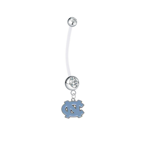 North Carolina Tar Heels Boy/Girl Clear Pregnancy Maternity Belly Button Navel Ring
