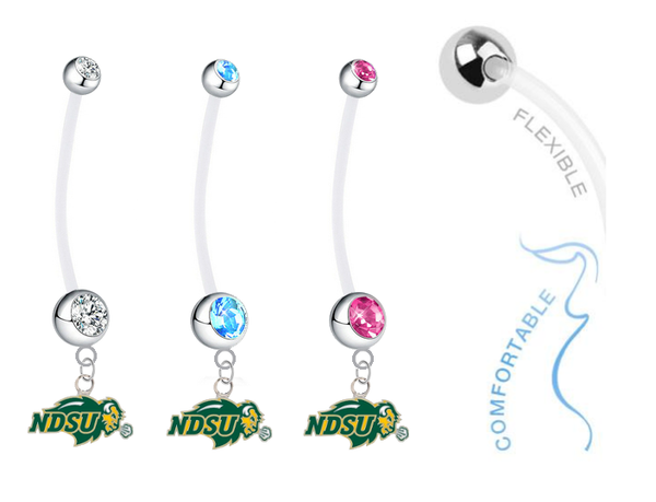 North Dakota State Bison Boy/Girl Pregnancy Maternity Belly Button Navel Ring