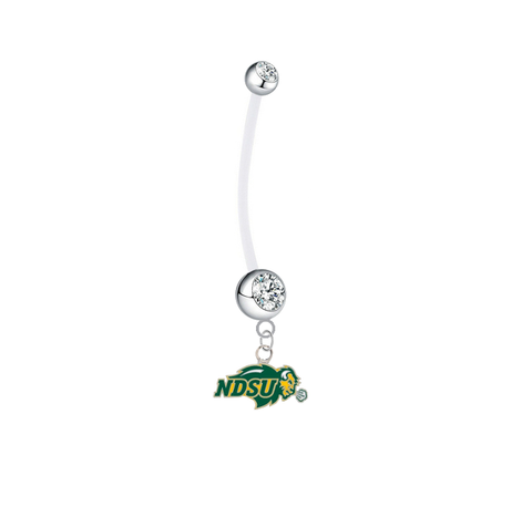 North Dakota State Bison Clear Pregnancy Maternity Belly Button Navel Ring - Pick Your Color