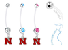 Nebraska Cornhuskers Boy/Girl Pregnancy Maternity Belly Button Navel Ring
